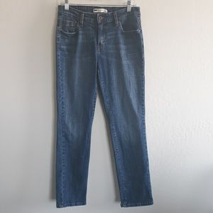 Levi's Mid Rise Skinny dark wash Jean's stretch